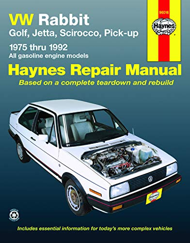 9781563920615: VW Rabbit, Golf, Jetta, Scirocco, Pick-up, 1975 Through 1992: All Gasoline Engine Models