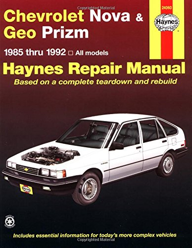 9781563920622: Chevrolet Nova & Geo Prizm (fwd) '85'92 (Haynes Repair Manuals)