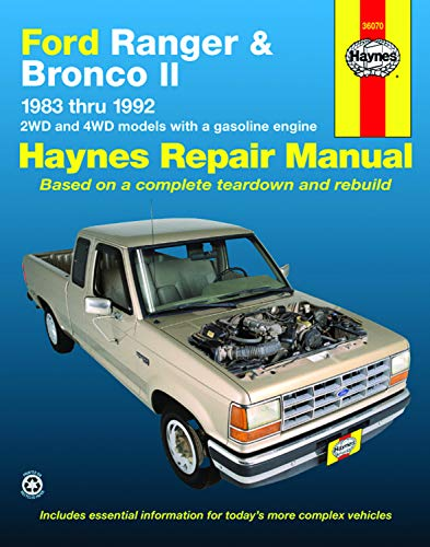 Ford Ranger & Bronco II Automotive Repair Manual: 1983-1993 2WD and 4Wd Models With a Gasoline Engine