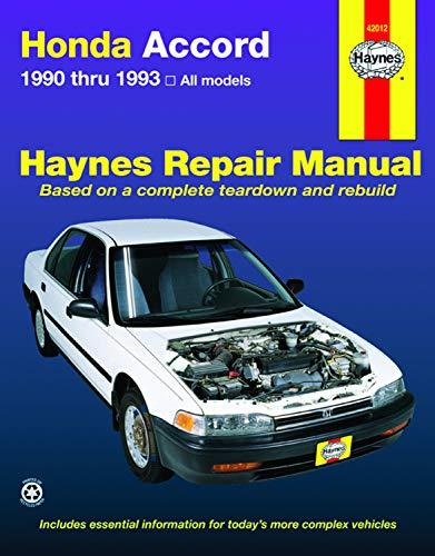 9781563920677: Honda Accord 1990 Thru 1993: All Models (Haynes Repair Manual)