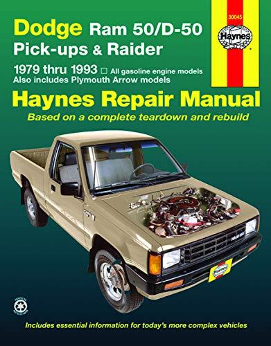 9781563920851: Dodge Ram 50/D50: Pickups & Raider, 1979 - 1993 (Haynes Automotive Repair Manuals)