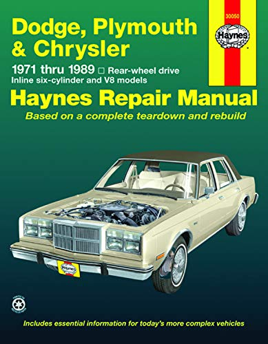 Dodge, Plymouth and Chrysler RWD, 1971-1989 (Haynes: Haynes, John