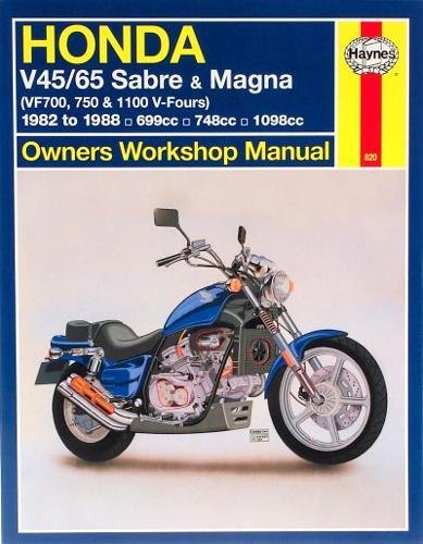 Honda V45/65 Sabre and Magna (VF700, 750 and 1100 V-Fours) (Haynes Owners Workshop Manuals): ...