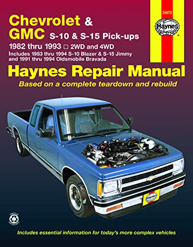 Chevrolet GMC S-10 S-15 Pick-ups Repair Manual,