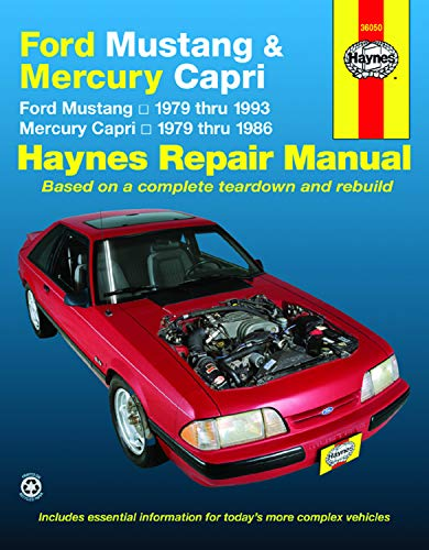 Ford Mustang Mercury Capri Automotive Repair Manual