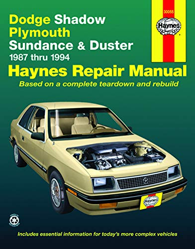 9781563921858: Dodge Shadow & Ply. Sundance '87'94 (Haynes Repair Manuals)