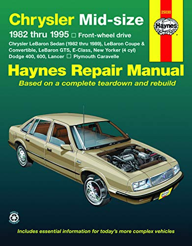 9781563921964: Chrysler Mid-Size Front Wheel Drive Automotive Repair Manual: 1982 Through 1995