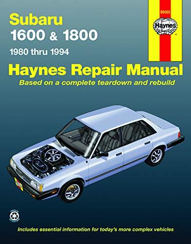 9781563922039: Subaru 1600 & 1800 1980 thru 1994 (Haynes Repair Manual)