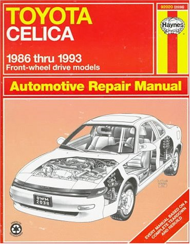 Toyota Celica Fwd Automotive Repair Manual : Models Covered : All Toyota Celica Front Wheel Drive ...