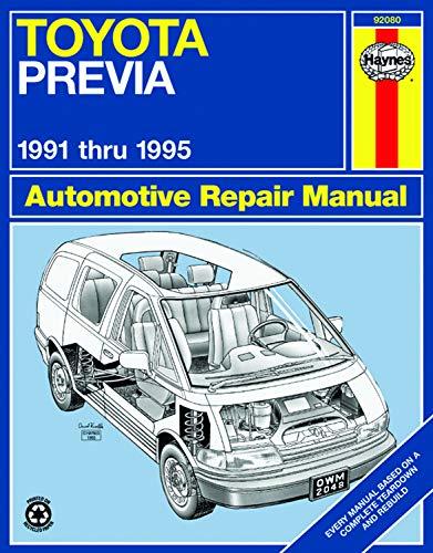 9781563922114: Toyota Previa Van '91'95 (Haynes Repair Manuals)