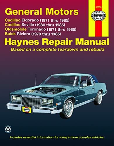 9781563922312: GM: Eldorado, Seville, Deville, Riviera, Toronado, '71'85 (Haynes Repair Manuals)