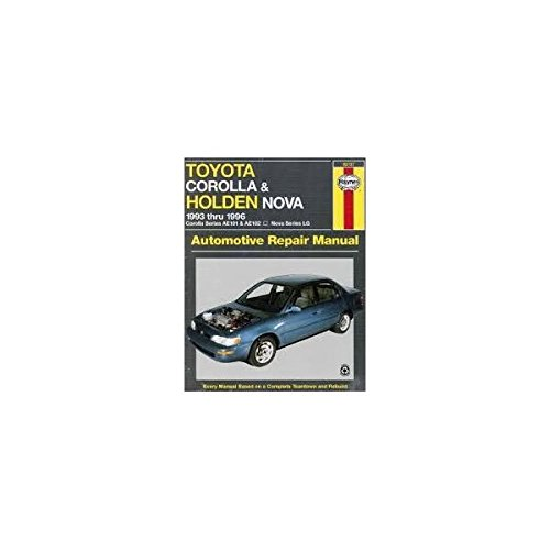 toyota corolla 2003 manual book