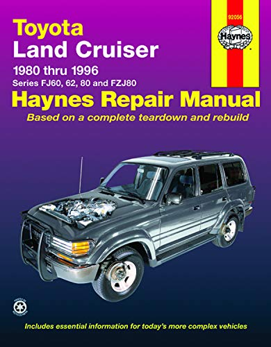 9781563923012: Toyota Land Cruiser FJ60, 62,80 & FZJ80, '80'96 (Haynes Repair Manuals)