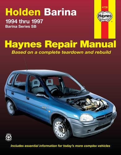 Holden Barina Automotive Repair Manual: Rendle Steve.
