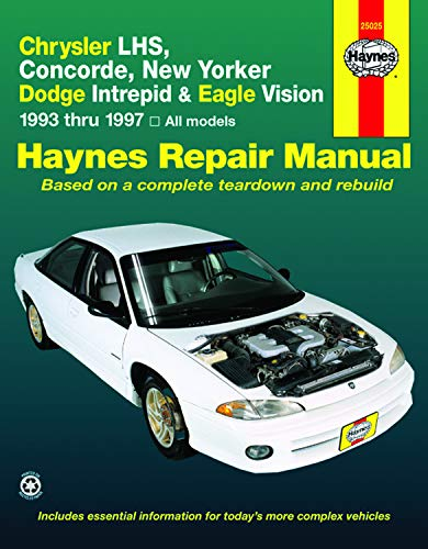 9781563923166: Chrysler LHS, Concorde, New Yorker Dodge Intrepid & Eagle Vision 1993 thru 1997, All Models (Haynes Repair Manual)