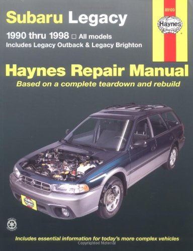 Subaru Legacy, 1990-1998: Includes Legacy Outback and Legacy Brighton (Haynes Manuals): John Haynes