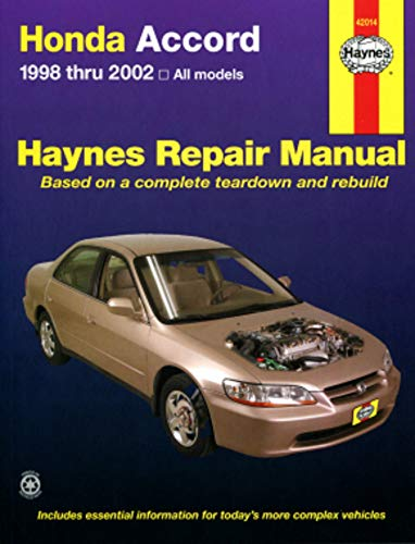 9781563923319: Haynes-Honda Accord 1998-1999