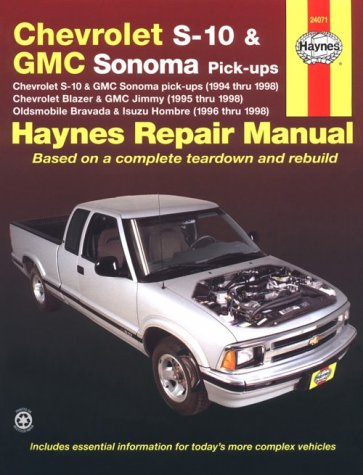 9781563923395: Haynes Chevrolet S-10 & Blazer, Gmc Sonoma & Jimmy, Oldsmobile Bravada, Isuzu Hombre Automotive Repair Manual: 1994 Thru 1998 (Haynes Automotive Repair Manuals)