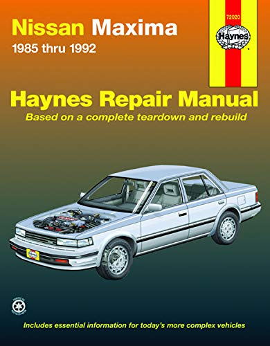 9781563923654: Nissan Maxima 1985 thru 1992 (Haynes Repair Manuals)