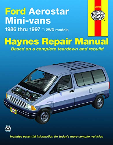 Haynes Ford Aerostar Mini-Vans 1986 thru 1997: Warren, Larry;Haynes, John;Christman, Mark