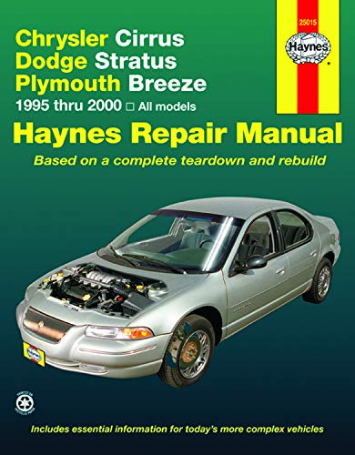 9781563924019: Chrysler Cirrus, Dodge Stratus, Plymouth Breeze, 1994-2000: 1995 to 2000 (Haynes Automotive Repair Manuals)
