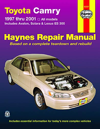 Toyota Camry 1997 thru 2001: All Models: Robert Maddox; Jay