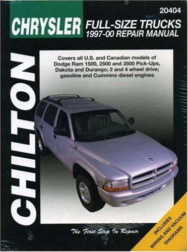 9781563924163: CHRYSLER Full-Size Trucks, 1997-00 (Chilton's Total Car Care Repair Manual)