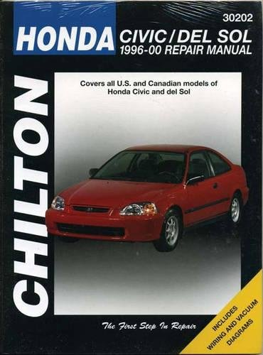 9781563924309: Honda Civic/del Sol, 1996-2000 (Chilton Total Car Care Series Manuals)
