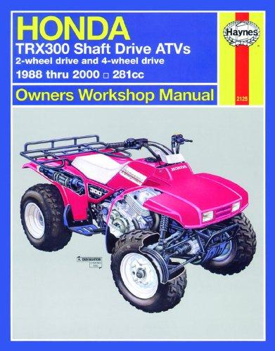 9781563924392: Honda TRX300 Shaft Drive ATV, 1988-2000 (Haynes Repair Manuals)