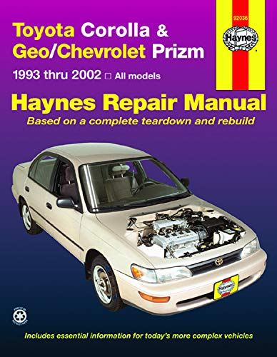 Toyota Corolla and Geo/Chevrolet Prizm: Storer, Jay; Haynes,