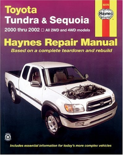 9781563924743: Toyota Tundra and Sequoia 2000 Thru 2002: Hy Repair Manual (Haynes Manuals)