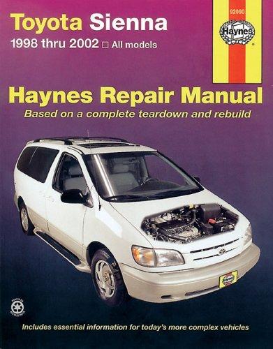 9781563924866: TOYOTA SIENNA 1998-2002 (Haynes Manuals)