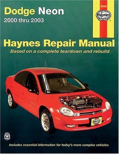 9781563924941: Haynes Dodge Neon 2000 thru 2003 (Haynes Manuals)