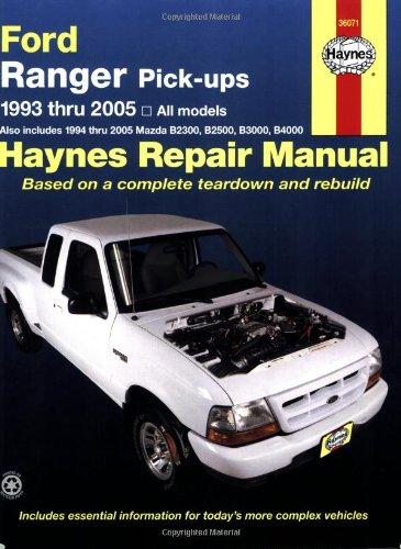 9781563925399: Ford Ranger & Mazda (B-Series) Pick-Ups Automotive Repair Manual (Haynes Repair Manual (Paperback))