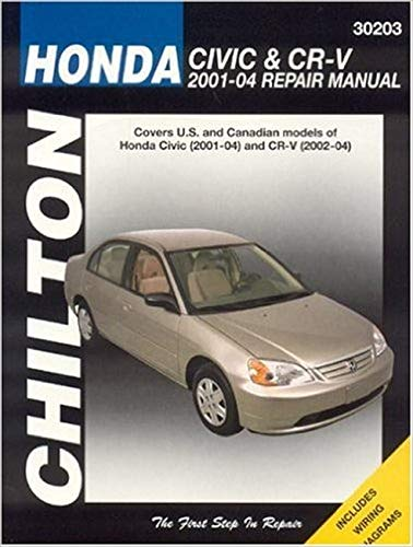 9781563925474 Honda Civic And CRV 2001 04 Haynes Repair