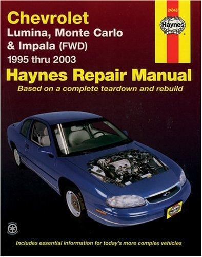 9781563925641: Haynes Chevrolet Lumina,Monte Carlo & Impala (FWD) 1995-2003 (Haynes Repair Manual)