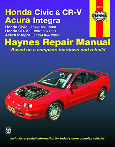 Honda Civic and CR-V, Acura Integra, 1994-2000, Honda Civic 1996-2000, Honda CR-V 1997-2001