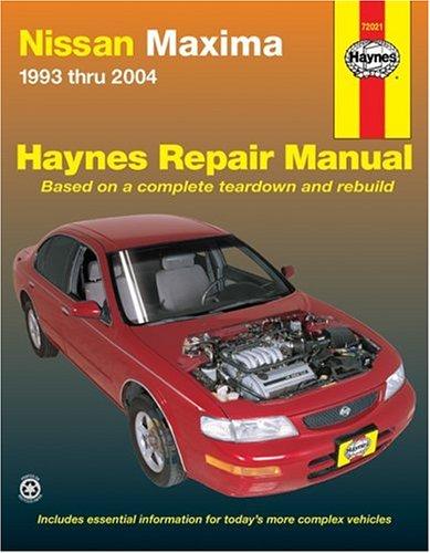 9781563925948: Nissan Maxima 1993 thru 2004 (Haynes Repair Manuals)