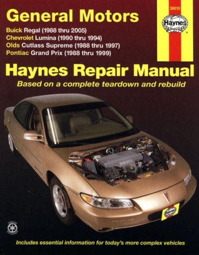General Motors Automotive Repair Manual: Buick Regal, Chevrolet Lumina, Olds Cutlass Supreme, ...