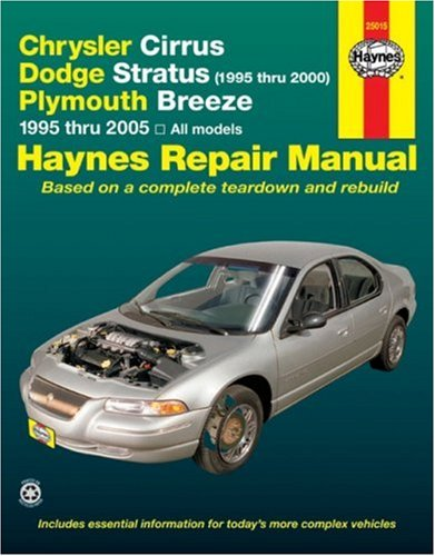 9781563926082: Chrysler Cirrus, Dodge Stratus (1995 thru 2000), Plymouth Breeze 1995 thru 2005: All models (Haynes Repair Manual)