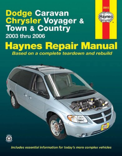 9781563926167 dodge caravan chrysler voyager town country 2003 rh abebooks com Dodge Caravan Shop Manual 2006 dodge caravan repair manual free