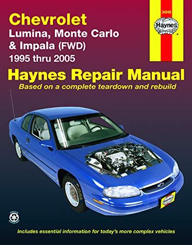 Haynes Repair Manual - Chevrolet Lumina, Monte Carlo, 1995 thru 2005: Maddox, Robert