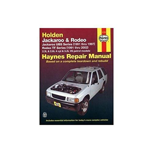 Holden Rodeo & Jackaroo Automotive Repair Manual: Haynes Publishing