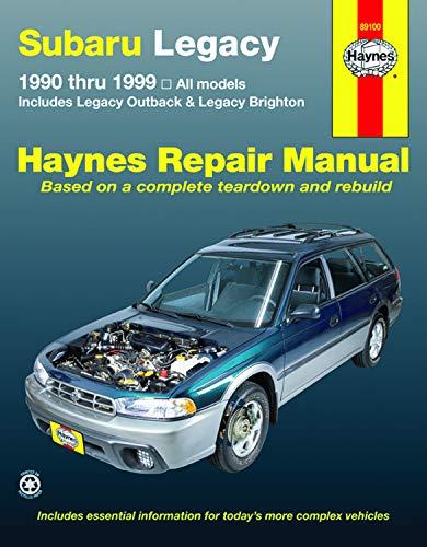 9781563926464: Subaru Legacy '90 THRU '99 (Haynes Repair Manual)