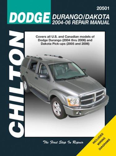 9781563926631: Dodge Durango 2004-06 & Dakota Pick-UPs 2005-06 (Chilton's Total Car Care Repair Manuals)