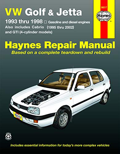 VW Golf & Jetta 1993 Thru 1998: Haynes, John H