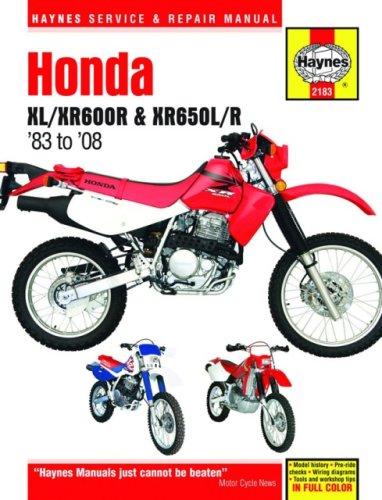 9781563927140: Honda XL/Xr600r & Xr650l/R, 1983-2008 (Haynes Repair Manual (Hardcover))