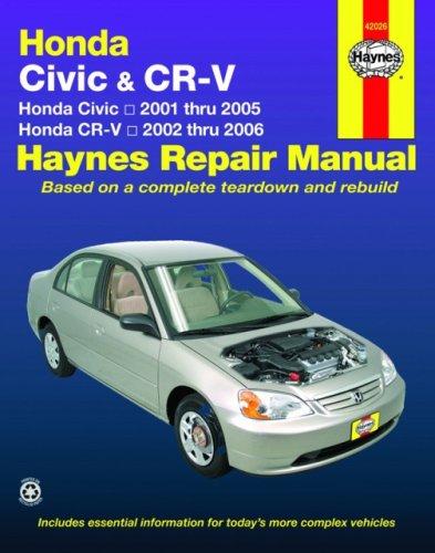 9781563927454 honda civic 2001 2005 honda cr v 2002 2006 haynes rh abebooks com 2001 Honda Civic Manual Transmission 2001 Honda Civic LX