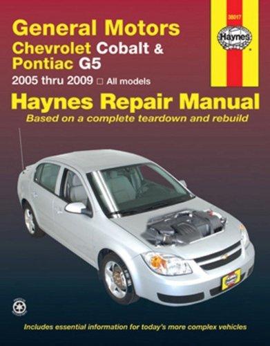 9781563927744: General Motors Chevrolet Cobalt & Pontiac G5 2005 thru 2009: All Models (Haynes Repair Manual)