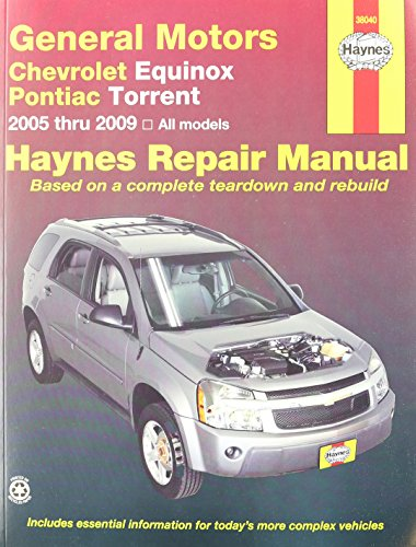 9781563928000: Chevrolet Equinox & Pontiac Torrent, 2005-2009 (Haynes Automotive Repair Manuals)